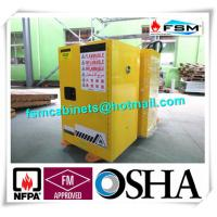 Wholesale Yellow Fireproof Flammable Safety Cabinets 12 Gal / 45L With Adjustable Leveling Feet from china suppliers