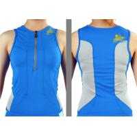 Wholesale Blue XS Slim Fit Womens Bike Jersey / Cycling Jersey no sleeve for promotional from china suppliers