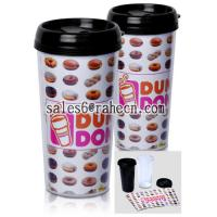 Buy cheap DIY double wall plastic mug from wholesalers