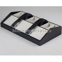 Wholesale Tabletop Wooden Display Racks Black Leather Belt Display Case For Fashion Store from china suppliers