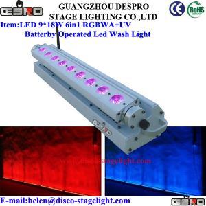 Wholesale 9*18W RGBWA + UA Battery LED Wash Light Wedding Disco Entertaiment Device from china suppliers