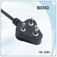 Wholesale South Africa and India 3 round pin non-rewirable power cord from china suppliers