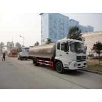 Wholesale Dongfeng 4*2 11.77CBM milk tanker truck for sale, HOT SALE! dongfeng 12m3 stainless steel fresh milk tank truck from china suppliers