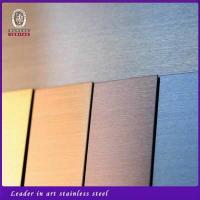 Wholesale Pvd Color Coated 304 Stainless Steel Sheet Plate For Wall Decorate from china suppliers