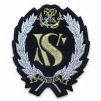 Wholesale Embroidered Emblem/Badge, Ideal for Apparel, Garments, Homespun Fabric and Room Ornaments from china suppliers