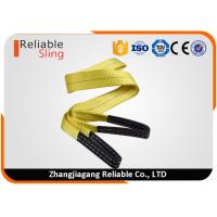 Wholesale Yellow Ply Flat Eye Sling , Polyester Webbing Sling For Lifting Loads from china suppliers