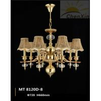 Wholesale Luxury Hotel Chandelier Pendant Lights Warm White Textile Embossing Fabric from china suppliers
