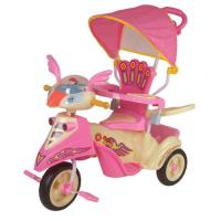 Wholesale Big Wheel Pink Baby Smart Trike Children Tricycle Autosteer Parent Control from china suppliers