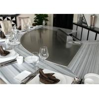 Wholesale Customized Teppanyaki Grill Table Rectangle , Circle , Semi-Circle Shape from china suppliers