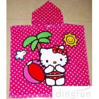 Wholesale Full Reactive Printing Personalized Hooded Poncho Towels Azo Free from china suppliers