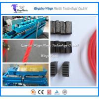 Quality Plastic Flexible Hose Making Machine / Corrugated Pipe Machinery for sale