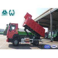 Buy cheap Red New Arrival HOWO 4 X 2 Dump Truck Reasonable Structure Light Weight from wholesalers