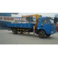 Wholesale Dongfeng RHD 4*2 4ton Truck mounted crane for sale, best price dongfeng brand 4tons telescopic boom mounted on truck from china suppliers