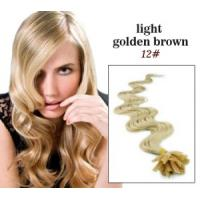 Wholesale Custom Golden U - Tip 100% Remy Real Pre Bonded Hair Extension from china suppliers