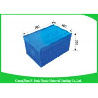 Wholesale Attached Lids Folding Plastic Crates Big Capacity Transport Moving Eco - Friendly from china suppliers