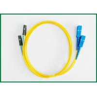 Wholesale MU To SC Fiber Optic Patch Cord / Optical Patch Cord Jumper For Optical Transmission from china suppliers