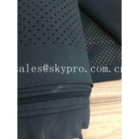 Perforated Neoprene Fabric Roll Shark Skin Embossed SBR CS CR Rubber Sheets With Holes