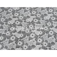 Wholesale White Nylon Spandex Stretch Lace Fabric With Flower Design For Garment SYD-0186 from china suppliers