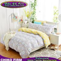 Wholesale 100% Cotton Grey and Yellow Little Flowers Home Textile Bedding Sets from china suppliers