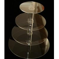 Wholesale 4 Tiers Simple Grocery Acrylic Countertop Display Stands For Bakeware / Cake from china suppliers