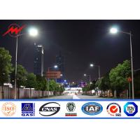 Quality School / Villas Steel High Mast Street Lamp Poles With Drawing 1.0 Safety Factor for sale