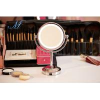 Wholesale LED makeup mirror light double sided battery charge 1X/5X magnifying desktop mirror from china suppliers