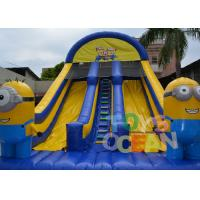 Wholesale 8 X 4.5 X 6.5m Inflatable Slide / Minion Madness Inflatable Water Slide from china suppliers