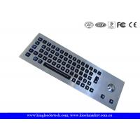 Wholesale LED Backlight Industrial Stainless Steel Keyboard with Trackball , 64 Keys from china suppliers