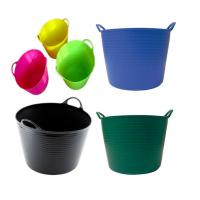 Wholesale 12L Household Soft Folding Plastic Cleaning Bucket Tub with Heavy Duty Handle for Multi - function from china suppliers