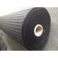 Wholesale Earth Work Project Black Woven Asphalt Geogrid Virgin Fiberglass Yarn CE / ISO from china suppliers