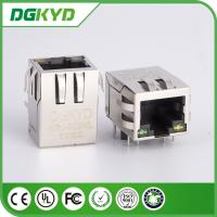 Wholesale Tab Down 1 Port Transformer Rj45 Lan Jack with Internal Magnetics , 21.3mm from china suppliers