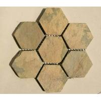 Wholesale Yellow Slate Hexagon Flagstone,Slate Flagston Patio Stones/Wall Cladding Natural Slate Flagstone Pavers/Walkway from china suppliers