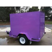 Wholesale Custom 6 X 4 Enclosed Trailer , Small Enclosed Cargo Trailers Single Axle from china suppliers