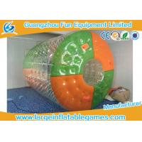 Wholesale Custom Color Dots Inflatable Water Roller Rolling Down Hill With CE Blower / Pump from china suppliers