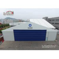 China Durable Wind Resistant Aluminum Aircraft Hangar With Auto Rolling Door 30m Width on sale