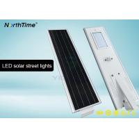 Buy cheap Bridgelux LED 40 W Motion Sensor Street Lights With 4 Days Back Up Battery 4700 - 4800LM from wholesalers