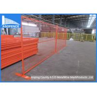 Wholesale Orange Temporary Fencing Panels Rental For Theft Prevention / Crowd Control from china suppliers