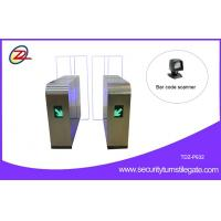 Quality Pedestrian QR Code Sliding Flap Barrier Gate 304 stainless steel Anti climbing for sale