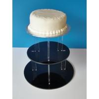 Wholesale 3-Tier Acrylic Bakery Display Case , 5mm thick weddingcake Display Stand Rack from china suppliers