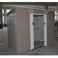 Wholesale Prefab Garden Metal Pent Shed Kits With Double Lockable Sliding Doors from china suppliers