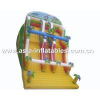 Wholesale Inflatable Dual Lane Slide With Palm Tree For Sand Beach Games from china suppliers