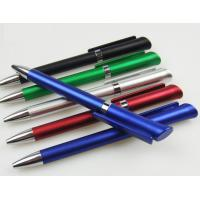 Buy cheap good finish elegant metallic twist promotional advertising logo plastic ball point pen from wholesalers