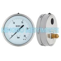Wholesale Shockproof Hydraulic Pressure Gauge Back Lower Connector With Fillable Glycerin from china suppliers