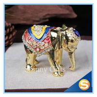 Wholesale Elephant Trinket Box Jewelry Box Enamel Pewter Box from china suppliers