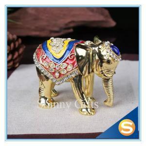 Wholesale Elephant Trinket Box Jewelry Box Enamel Pewter Box from china suppliers
