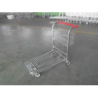 Wholesale Cargo Warehouse Trolley 4 Swivel flat casters with Platfrom and foldable baskets from china suppliers