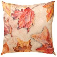 Wholesale Golden Autume Leaves Cotton Linen Outdoor Decorative Pillows Blend Fabric from china suppliers