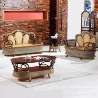 Wholesale bamboo rattan sofa set, living room sofa set, classic sofa set, #1141 from china suppliers