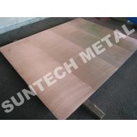 Wholesale Explosion Bonded 316L Copper Clad Tubesheet for Corrosion Resistance from china suppliers