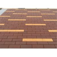 Wholesale Non - Radioactive Clay Paving Brick Easy to Maintain Red / Brown Brick Pavers 2.9 - 3.2% from china suppliers